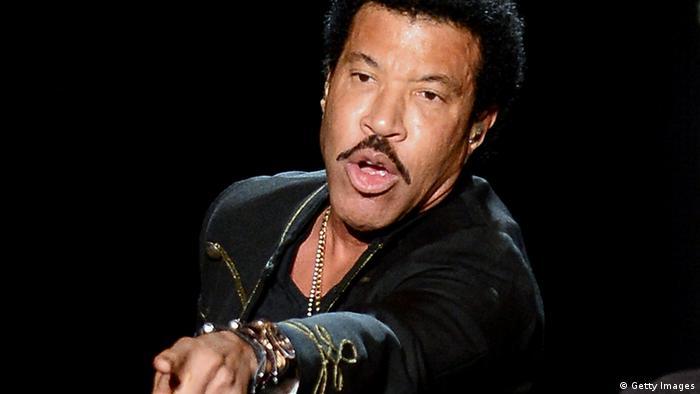 USA Sänger Lionel Richie beim Konzert (Getty Images)