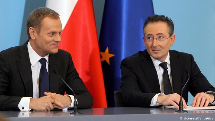 Polen Premierminister Donald Tusk Innenminister Bartlomiej Sienkiewicz