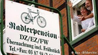 Pension für Radfahrer Bett and Bike Aktion von ADFC