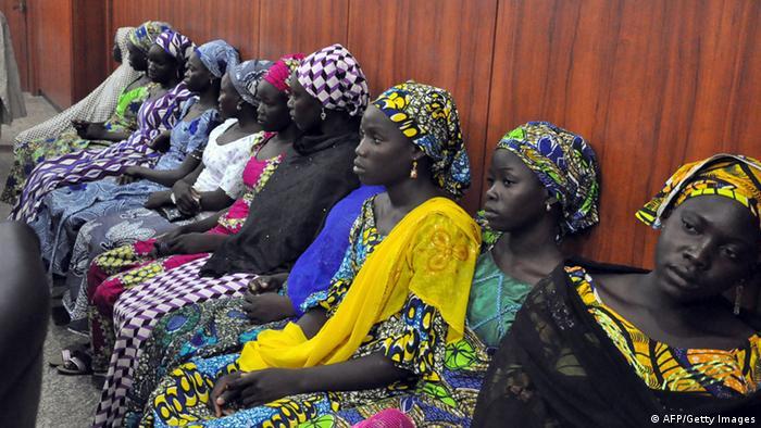 Mujeres secuestrada por Boko Haram, aquí en Maiduguri. (Archivo)