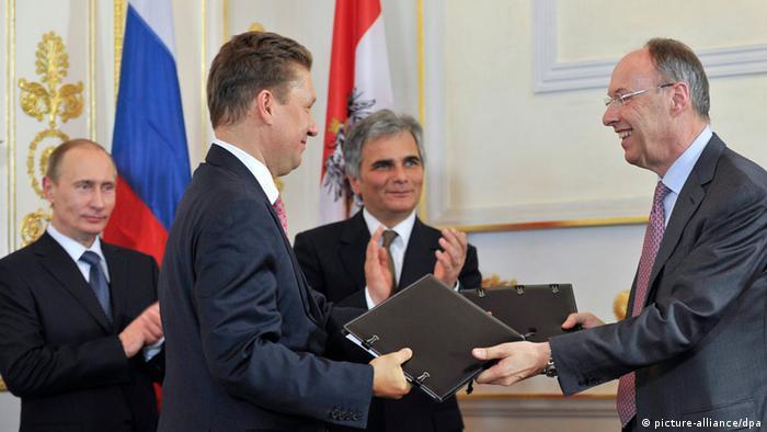 OMV und Gazprom fixieren South-Stream-Vertrag in Wien 24.06.2014