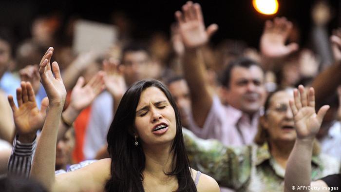 Brasilianische Pfingstkirchler Evangelikalen Messe Ekstase (AFP/Getty Images)