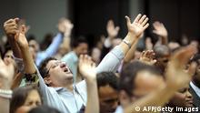 Brasilianische Pfingstkirchler Evangelikalen Messe Ekstase