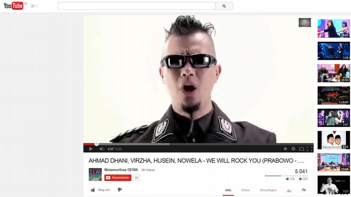 Bildzitat YouTube Indonesien Sänger Ahmad Dhani