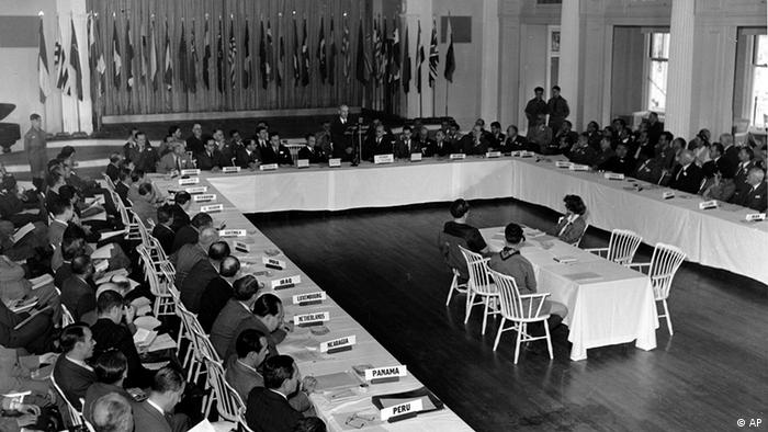 Bretton Woods conference, 1944. (Photo: AP Photo/Abe Fox)
