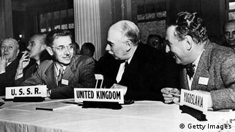 The English economist John Maynard Keynes, (1883 - 1946).