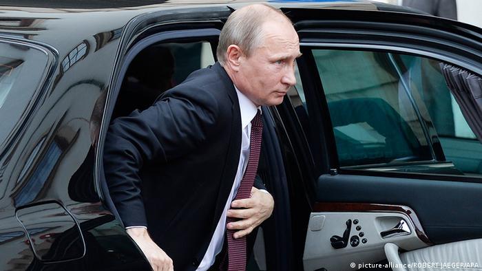 Руският президент Владимир Путин при пристигането му във Виена