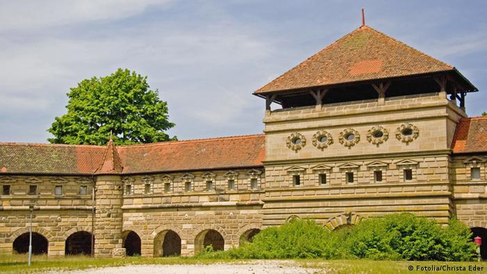 Exterior do castelo de Lichtenau Fortress