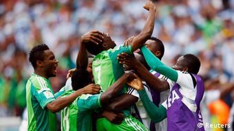 Fußball WM 2014 Argentinien Nigeria Jubel