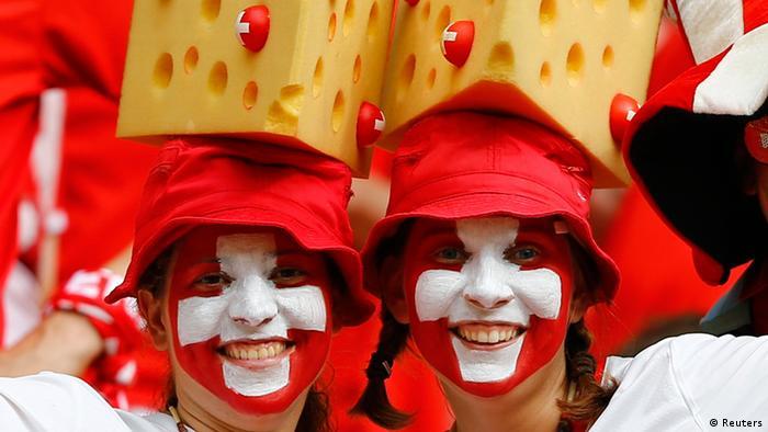Fußball WM 2014 Schweiz Honduras Fans