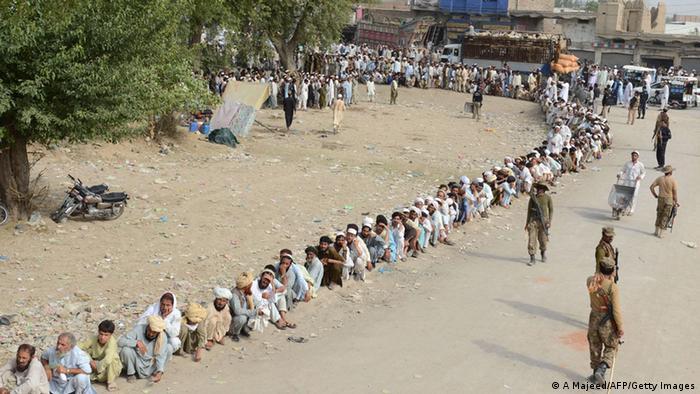 Pakistan Flüchtlinge in Bannu 25.06.2014