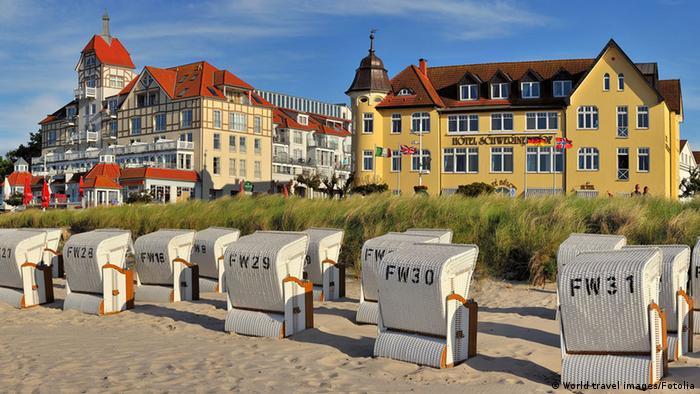 Cidade balneária Kühlungsborn e sua praia