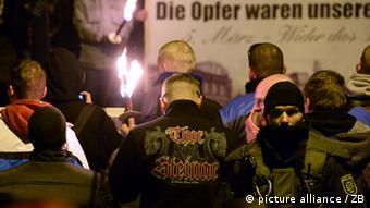 Демонстрация саксонских неонацистов