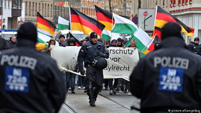 Demonstracija desnih ekstremista u Leipzigu