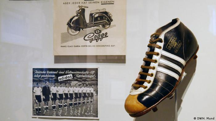 Football memorabilia at the Haus der Geschichte in Bonn