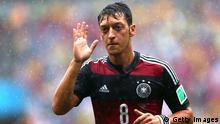 RECIFE, BRAZIL - JUNE 26: Mesut Oezil of Germany looks on during the 2014 FIFA World Cup Brazil group G match between the United States and Germany at Arena Pernambuco on June 26, 2014 in Recife, Brazil. (Photo by Kevin C. Cox/Getty Images)