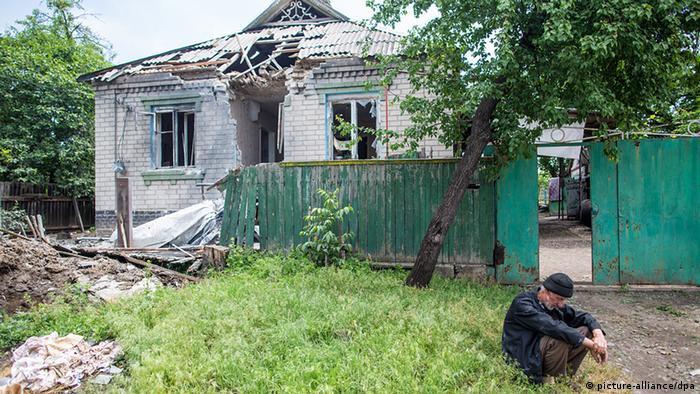 Будинок після артилерійського обстрілу