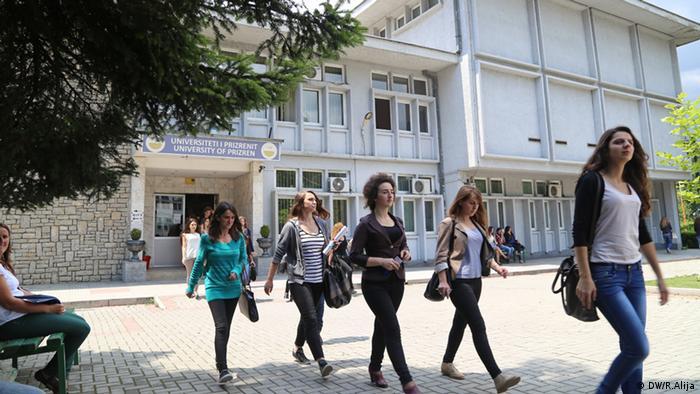 Das Hauptgebäude der Universität von Prizren