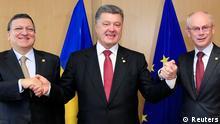 Poroschenko unterzeichnet den zweiten Teil des Assoziierungsabkommens mit der EU