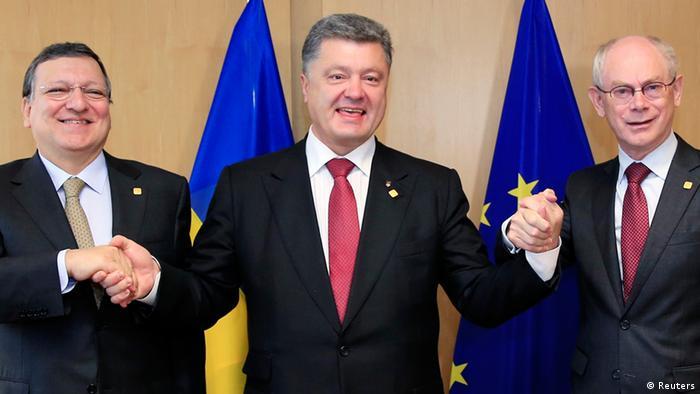 Президент Порошенко і керівництво ЄС після остаточного підписання угоди про асоціацію (архівне фото)
