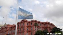 Argentinien Flagge Präsidentenpalast in Buenos Aires