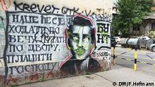 Graffito des Attentäters Gavrilo Princip in Sarajevo (Foto: DW / Frank Hofmann)