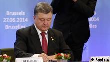 EU Gipfel Poroschenko Assoziierungsabkommen 27.06.2014