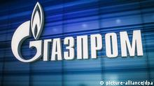 Russland Logo von Gazprom in Moskau (picture-alliance/dpa)