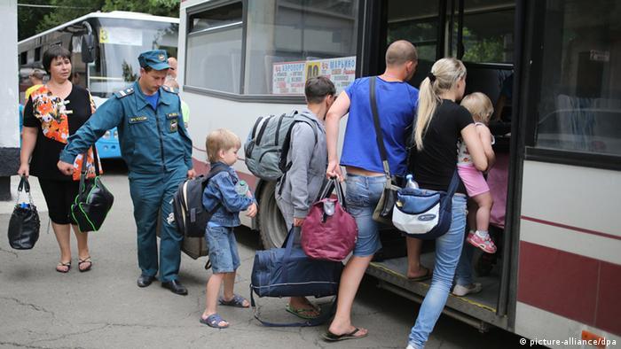 Ukraine Flüchtlinge aus Donezk 26.06.2014
