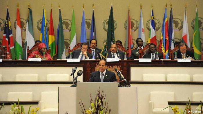 Malabo Gipfel Afrikanische Union Sisi Rede 26.06.2014 (Reuters)