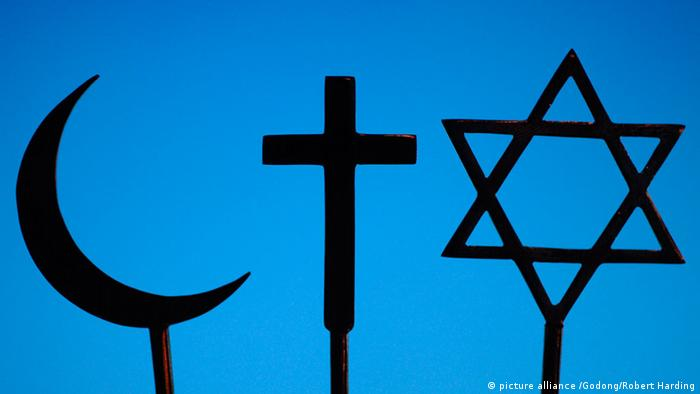 Symbolbild Christentum Judentum Islam