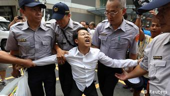 Taiwan Protest gegen chinesische Regierungsvertreter 27.06.2014