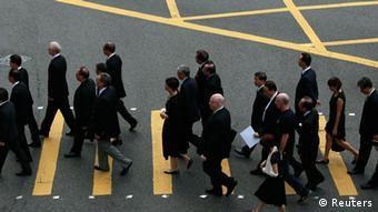 Protest von Anwälten in Hongkong