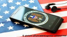 Handy mit NSA-Logo auf US-Fahne, Abhoeraffaere
