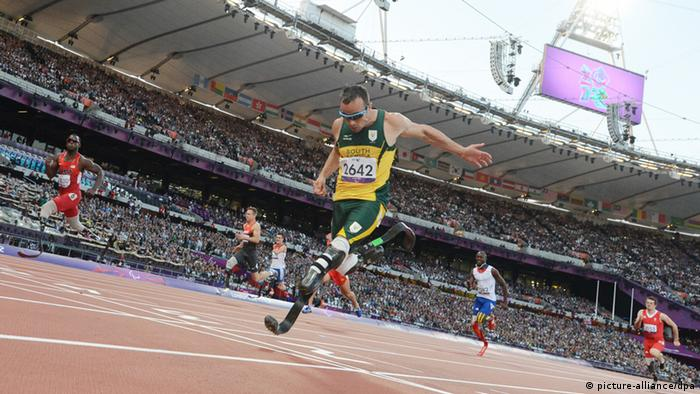 Oscar Pistorius at the London Olympics (picture-alliance/dpa)