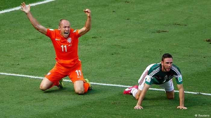 WM 2014 Achtelfinale Niederlande