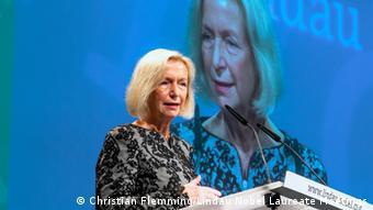 Johanna Wanka, ministra alemana de Educación e Investigación.
