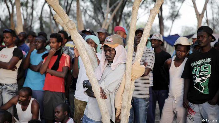 Eritreische und sudanesische Flüchtlinge, hier in Israel