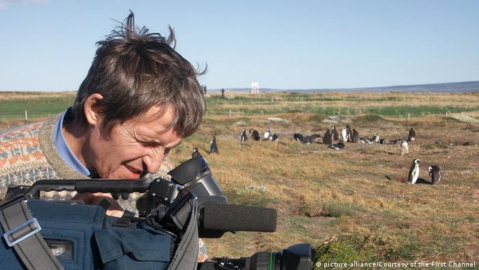 Kameramann Anatoly Klyan mit seiner Kamera - Archivbild (Foto: First Channel)
