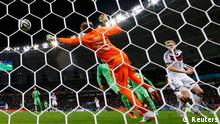 Germany's Andre Schuerrle celebrates his goal against Algeria during extra time in their 2014 World Cup round of 16 game at the Beira Rio stadium in Porto Alegre June 30, 2014. REUTERS/Edgard Garrido (BRAZIL - Tags: SOCCER SPORT WORLD CUP)