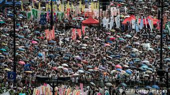 Pro-demokratische Demonstration in Hongkong 01.07.2014