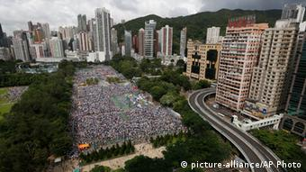 Pro-demokratische Demonstration in Hongkong 01.07.2014
