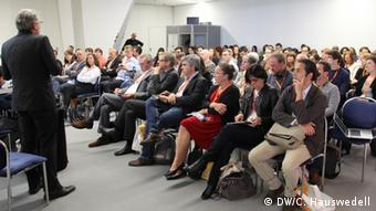 Panel hosted by DW Akademie at the Global Media Forum 2014: The Power of the Neighborhood. Photo: Charlotte Hauswedell