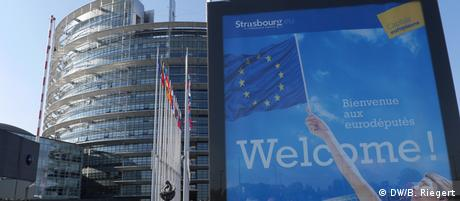 Europaparlament in Straßburg 01.07.2014 (DW/B. Riegert)