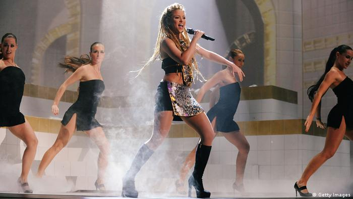 Shakira at the MTV Europe Awards in 2009 in Berlin (Getty Images)