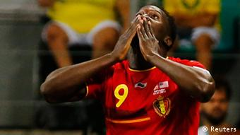 Belgian's Lukaku after scoring a goal against the US in the 2014 World Cup