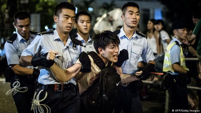 Festnahmen bei pro-demokratischen Protesten in Hongkong 02.07.2014