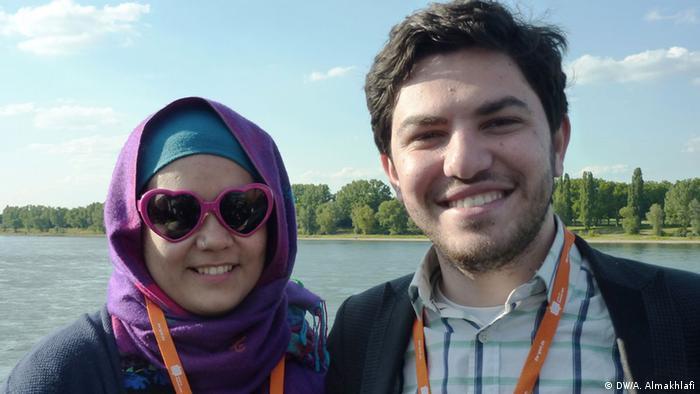 Blogger Mosa'ab Elshamy und seine Frau