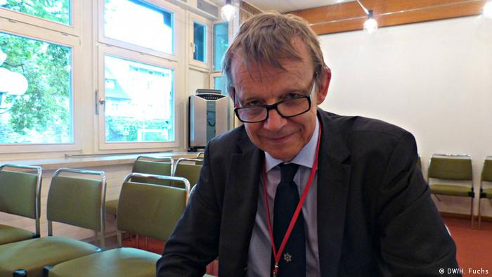 Hans Rosling at the Nobel Laureates meeting in Lindau 2014 (DW/H. Fuchs)