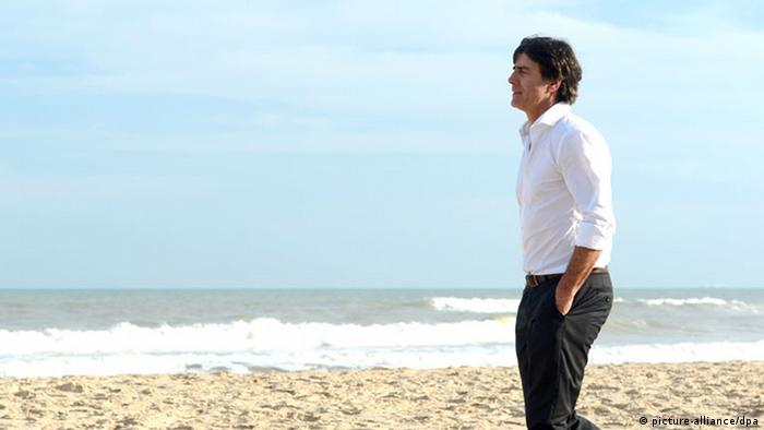 Joachim Löw on the beach Costa do Sauipe in Brazil